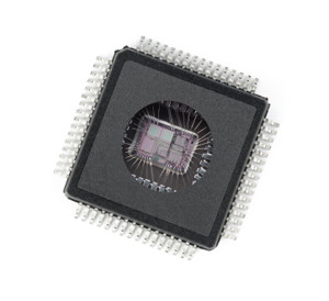 Showing the inner brains of a microchip.